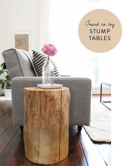 DIY tree stump tables | ohlovelyday.com
