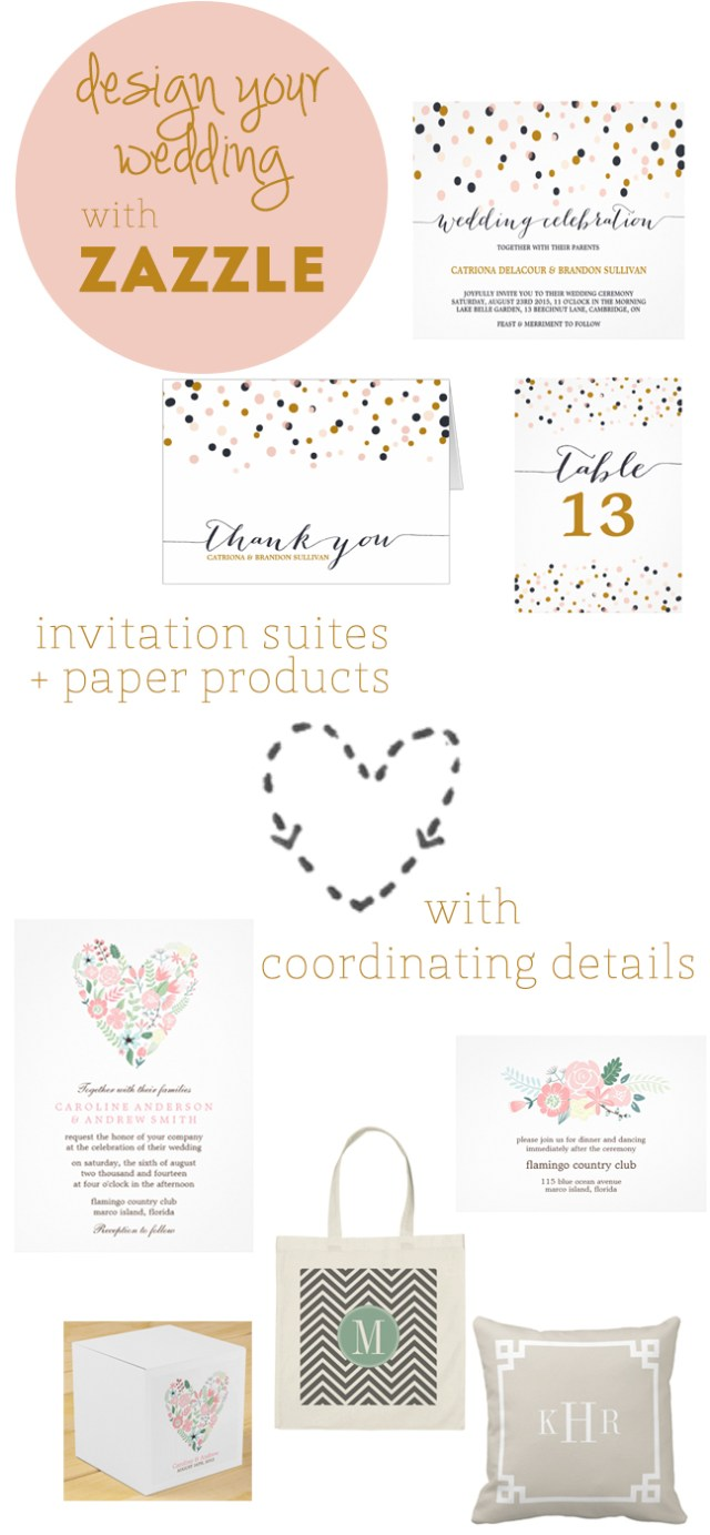 design your wedding with Zazzle | Oh Lovely Day