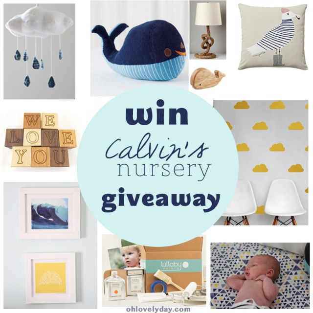 calvin's nursery giveaway on Oh Lovely Day