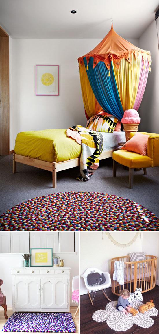 felt balls in interior decor | Oh Lovely Day