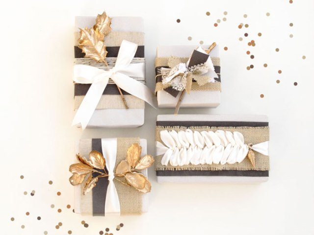 Holiday Gift Wrap DIY   blue magpie for Oh Lovely Day