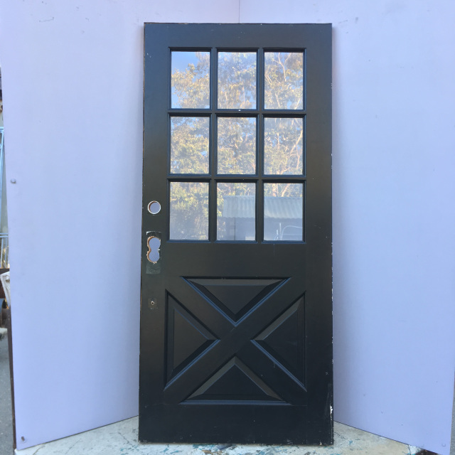 9 Lite Cross Buck Entry Door