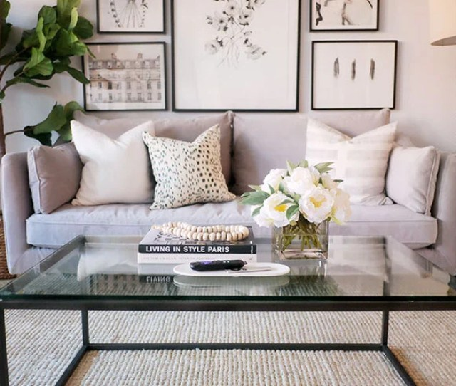 Step Two Use Something Tallish Give Your Coffee Table Arrangement Some Height But Not So Much Height That Its Difficult Seeing Across The Room