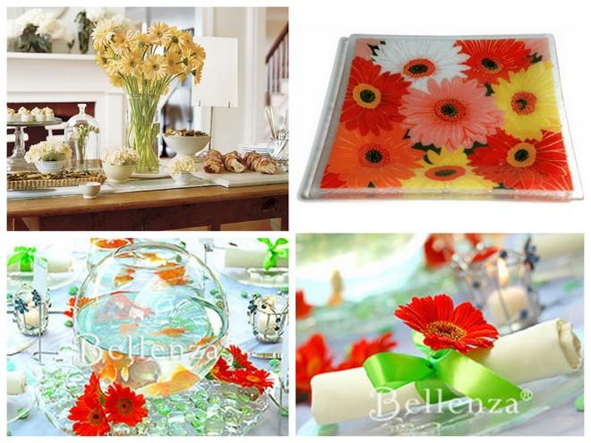 Gerbera Daisy Party and Wedding Ideas  |  OHMY-CREATIVE.COM