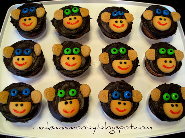 Monkey Party Cupcakes