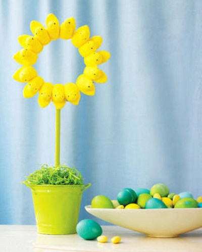 Easter Peeps Topiary Decor
