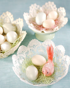 Doily Baskets – Pretty For Spring and Easter