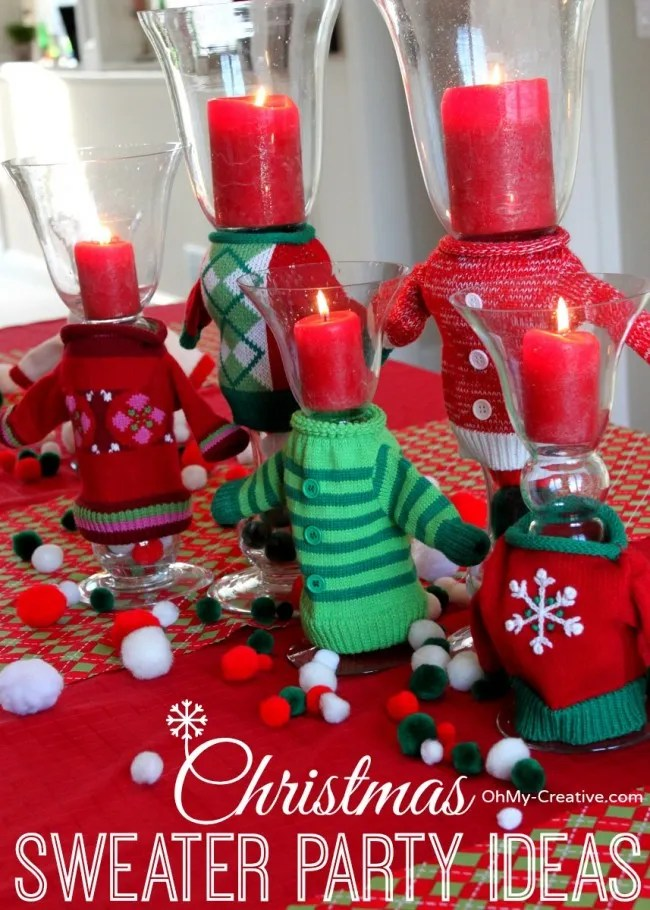 christmas sweater party ideas ohmy creativecom - Youth Christmas Party Decorations