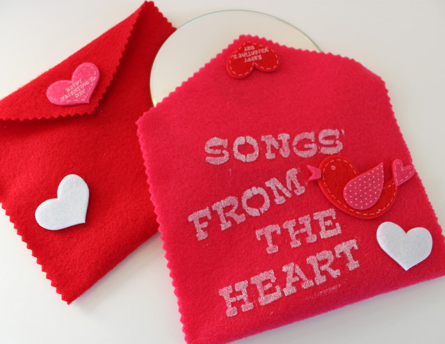 """DIY Valentine's Day Card – """"Songs From The Heart"""""""