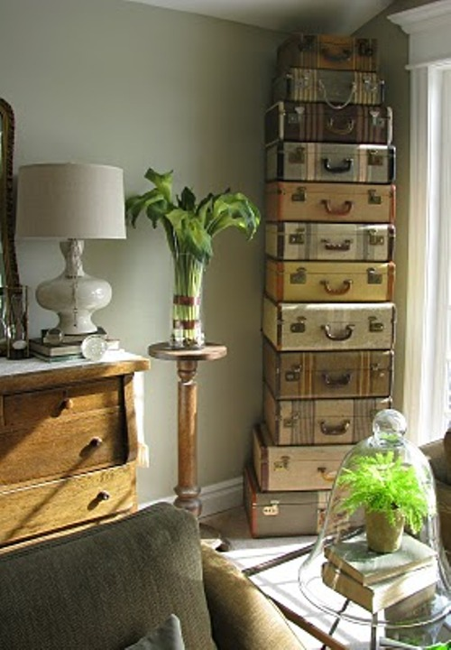 Stacked Trunk Side Table