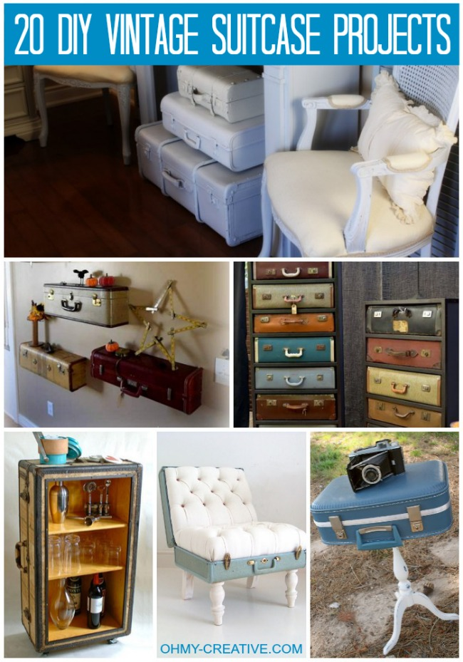 20 DIY Vintage Suitcase Projects And Repurposed Suitcases. Create Unique Home  Decor Using Repurposed Old