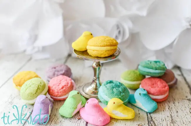 Peeps made into Whoopie Pies