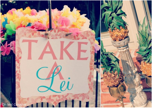 Vintage Luau Party Decorations | OHMY-CREATIVE.COM