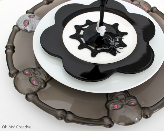 Glam Halloween Charger Plates From Dollar Store Platter