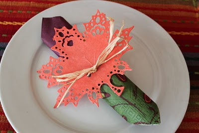 DIY Leaf Thanksgiving Napkin Ring