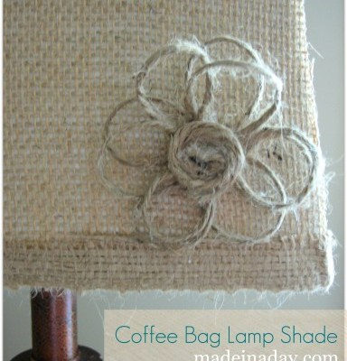 DIY Burlap Lamp Shades