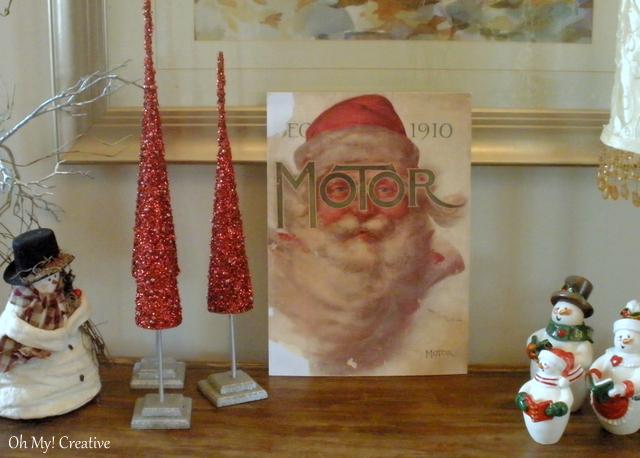 Merry Christmas – Vintage Magazine Santa Decoration!