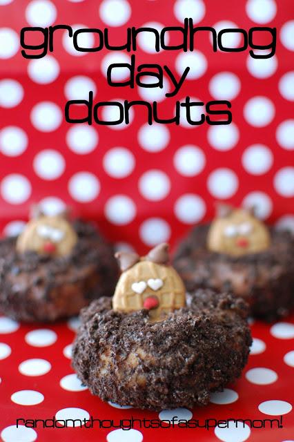 Groundhog day doughnut dessert