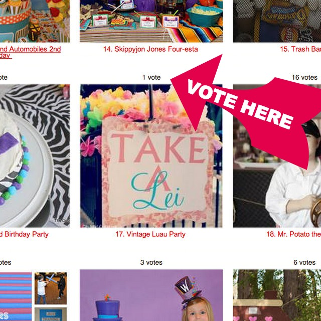 Vote For Oh My! Creative.com Luau Party