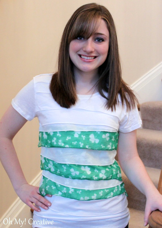 aed87f96b What an easy way to make a cheap DIY Woman's St. Patrick's Day T-