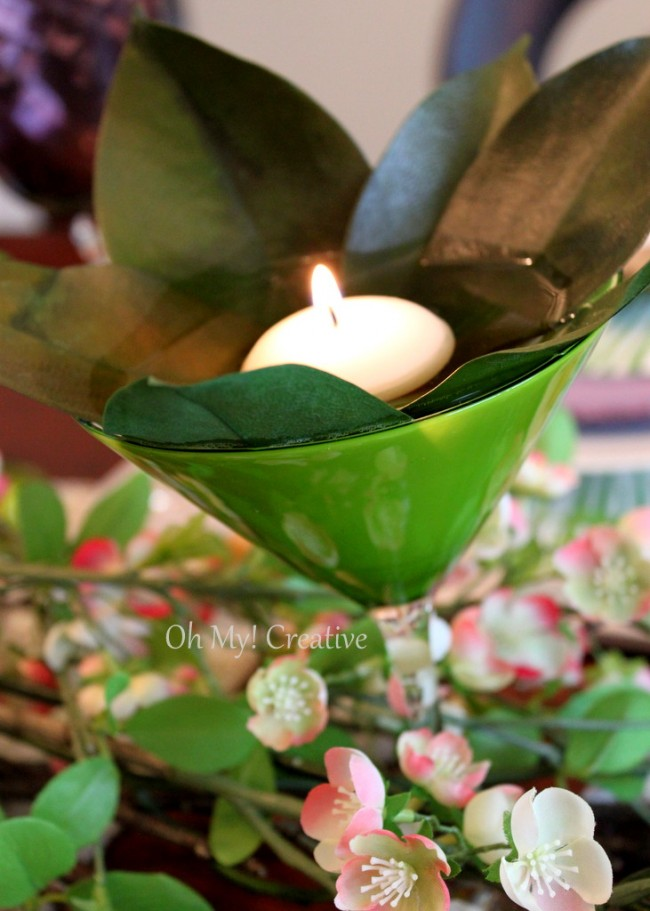 Natural Floral Easter or Spring Tablescape,
