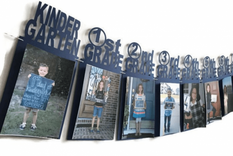 Graduation Party Banner with school pictures. Graduation party decorations. #graduationpartyideas #graduationparty #gradparty