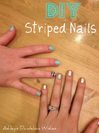 Spring Striped Finger Nails