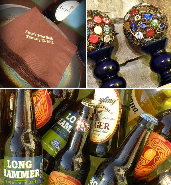 brew-bash-party-ideas-beer-tasting-party Milestone Birthday Party 30th, 40th, 50th, 60th Birthdays