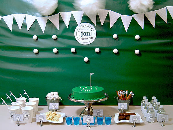 Golf Theme Milestone Birthday Party 30th, 40th, 50th, 60th Birthdays