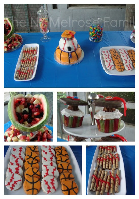 Sports Theme graduation dessert table