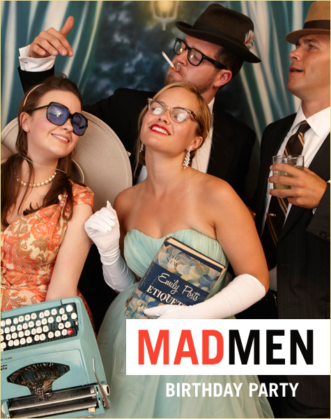 Mad Men Inspired Milestone Birthday Party 30th, 40th, 50th, 60th Birthdays