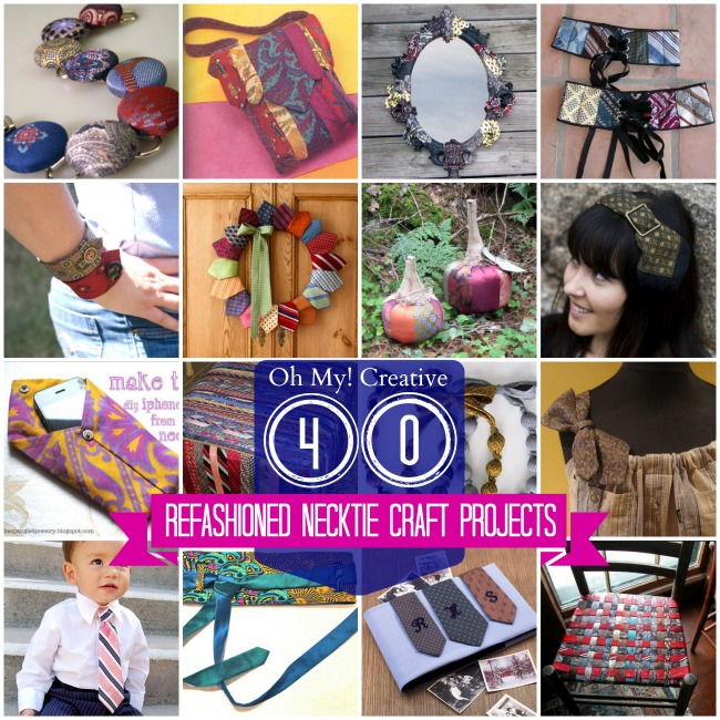 40 Refashioned Nicktie Craft Projects - OhMy-Creative.com