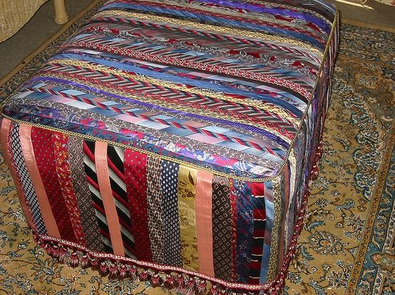 necktie ottoman
