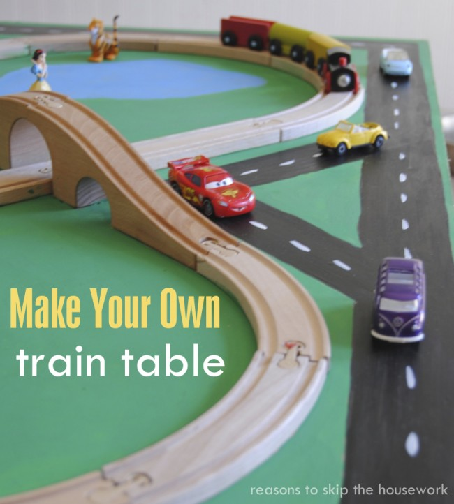 How to make a kids train table