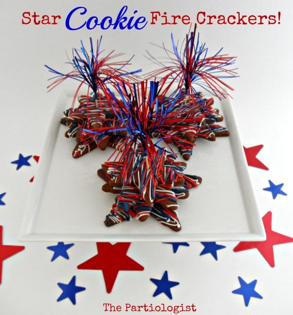 Patriotic Star Cookie Firecracker