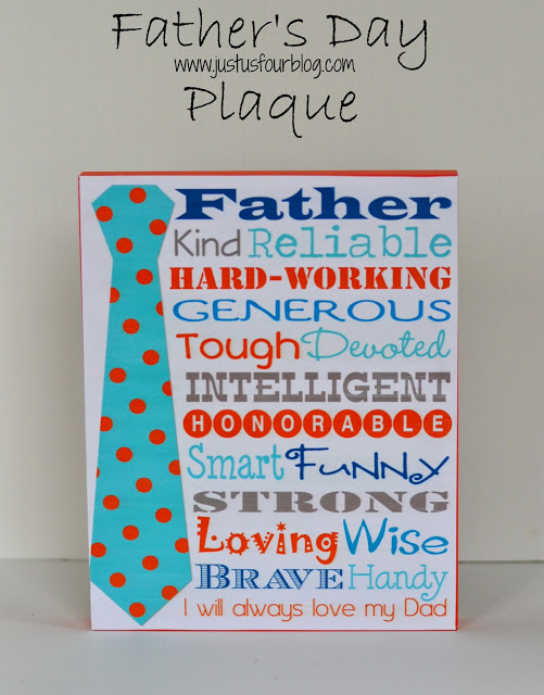 DIY Father's Day Plaque