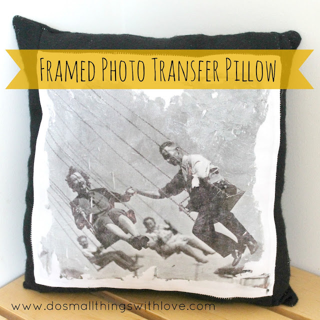Father's Day photo transfer pillow