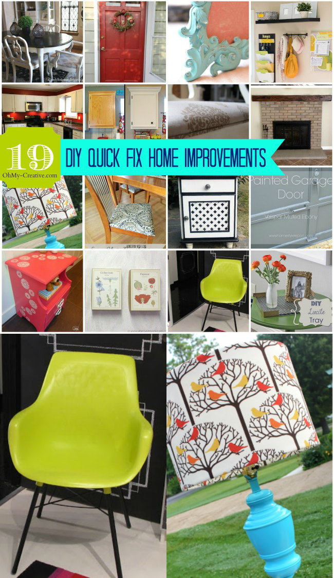 19 DIY Quick Fix Home Improvements | OHMY-CREATIVE.COM