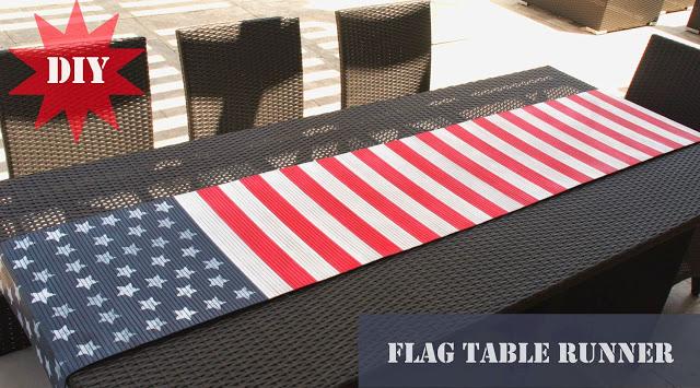 Flag themed table runner