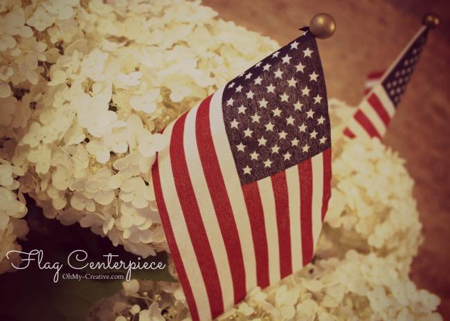 Patriotic Flag Centerpiece - Ohmy-creative.com