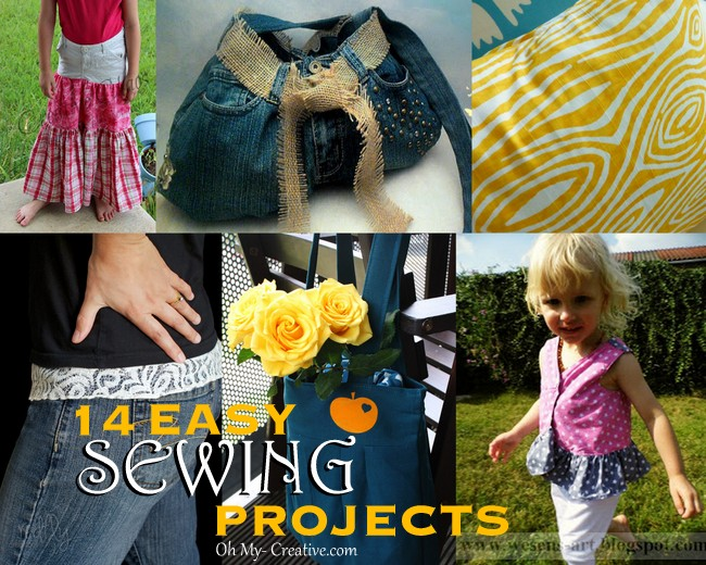 14 Easy Sewing Projects - ohmy-creatiive.com