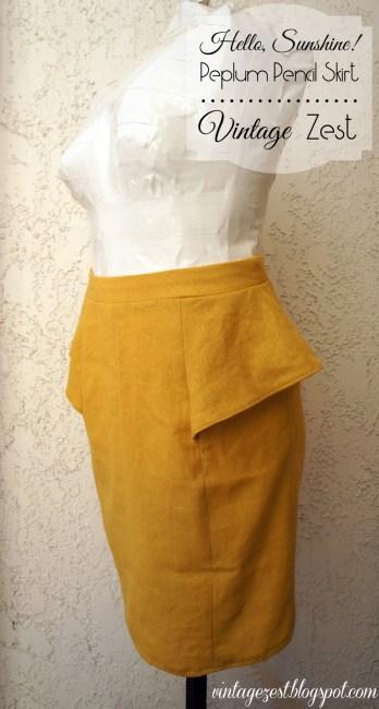 Sew a peplum pencil skirt