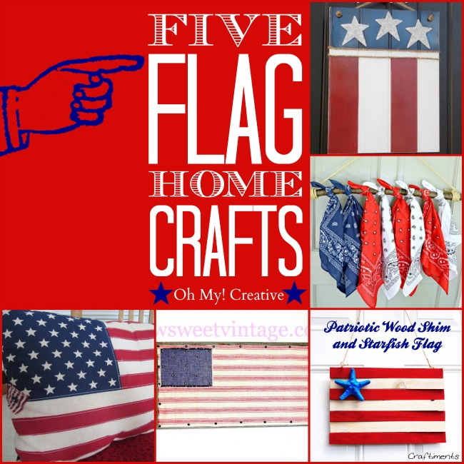 five flag home crafts - ohmy-creative.com