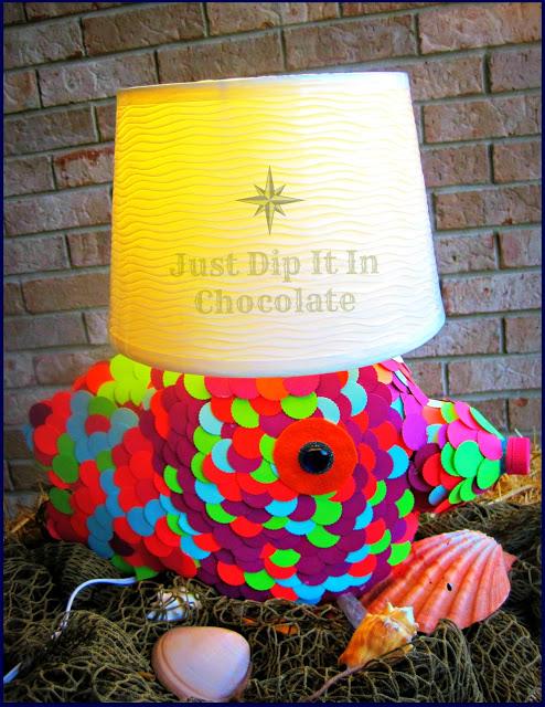 rainbow fish lamp