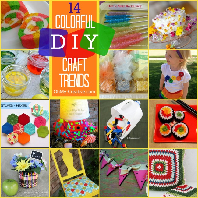 14 Colorful DIY Craft Trends - OhMy-Creative.com