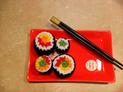Crochet Sushi Magnets