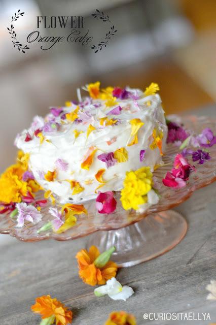 edible flower cake
