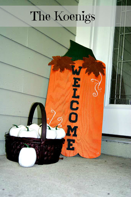 Pumpkin front porch wooden sign