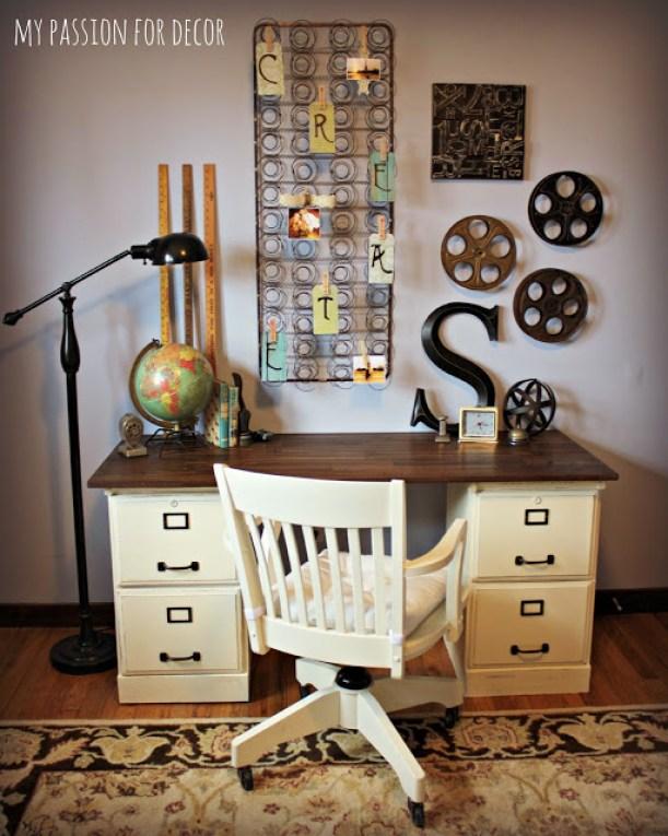 Repurposed Goodwill Desk to Pottery Barn Knockoff Desk