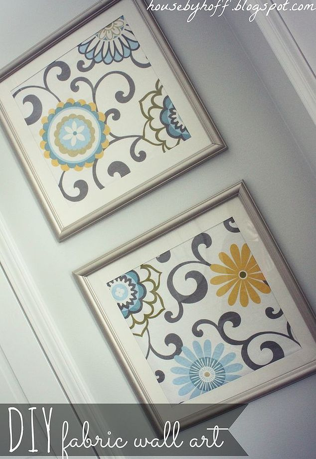 Goodwill Frames to Upcycled Fabric Art